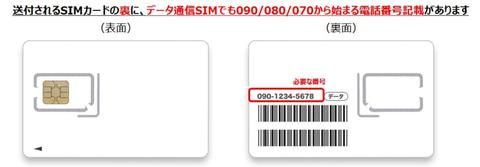 LINEモバイル データSIM 電話番号