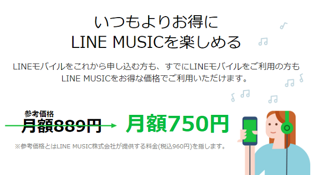 LINE MUSICオプション 利用料