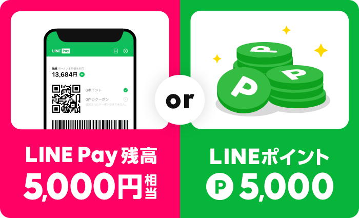 LINE Pay残高orポイントプレゼント
