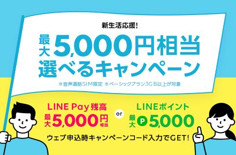 最大5,000円相当選べるキャンペーン