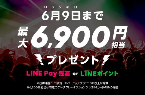 LINEモバイル ロックの日キャンペーン